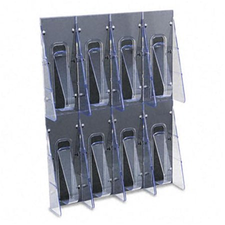 Stand Tall Eight-Pocket Plastic Wall-Mount Leaflet Display Rack