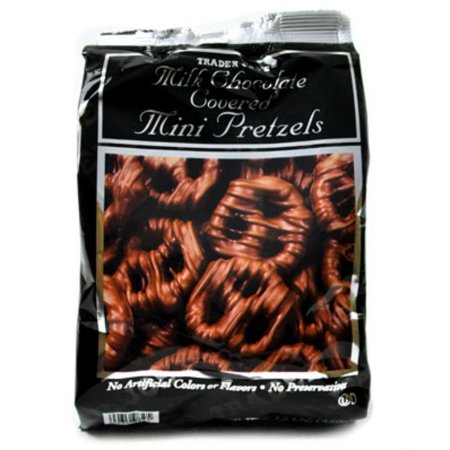 Trader Joes Milk Chocolate Covered Mini Pretzels](Halloween Chocolate Pretzels)