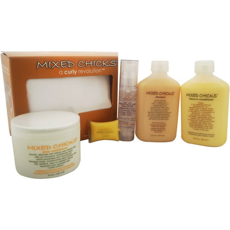 Quad Pack - A Curly Revolution by Mixed Chicks for Unisex, 4 Pc (Best Hair Products For Mixed Curly Hair)