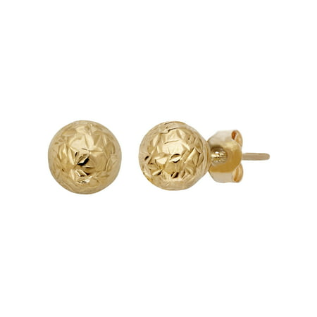 4c901e7da Brilliance Fine Jewelry - 10kt Yellow Gold 6mm Ball Stud Earrings -  Walmart.com