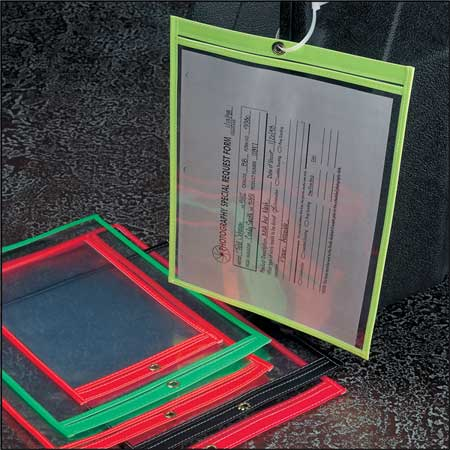 "Fluorescent Red Shop Envelope, Baw Plastics, SEWNHDR 12X15FLRED, 15""Hx12""W"