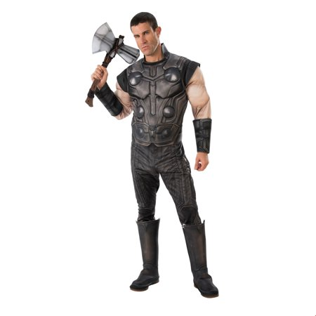 Revolutionary War Halloween Costumes (Marvel Avengers Infinity War Deluxe Mens Thor Halloween)