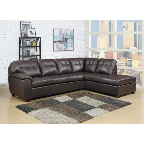 Calvin 2pc Sectional in Brown