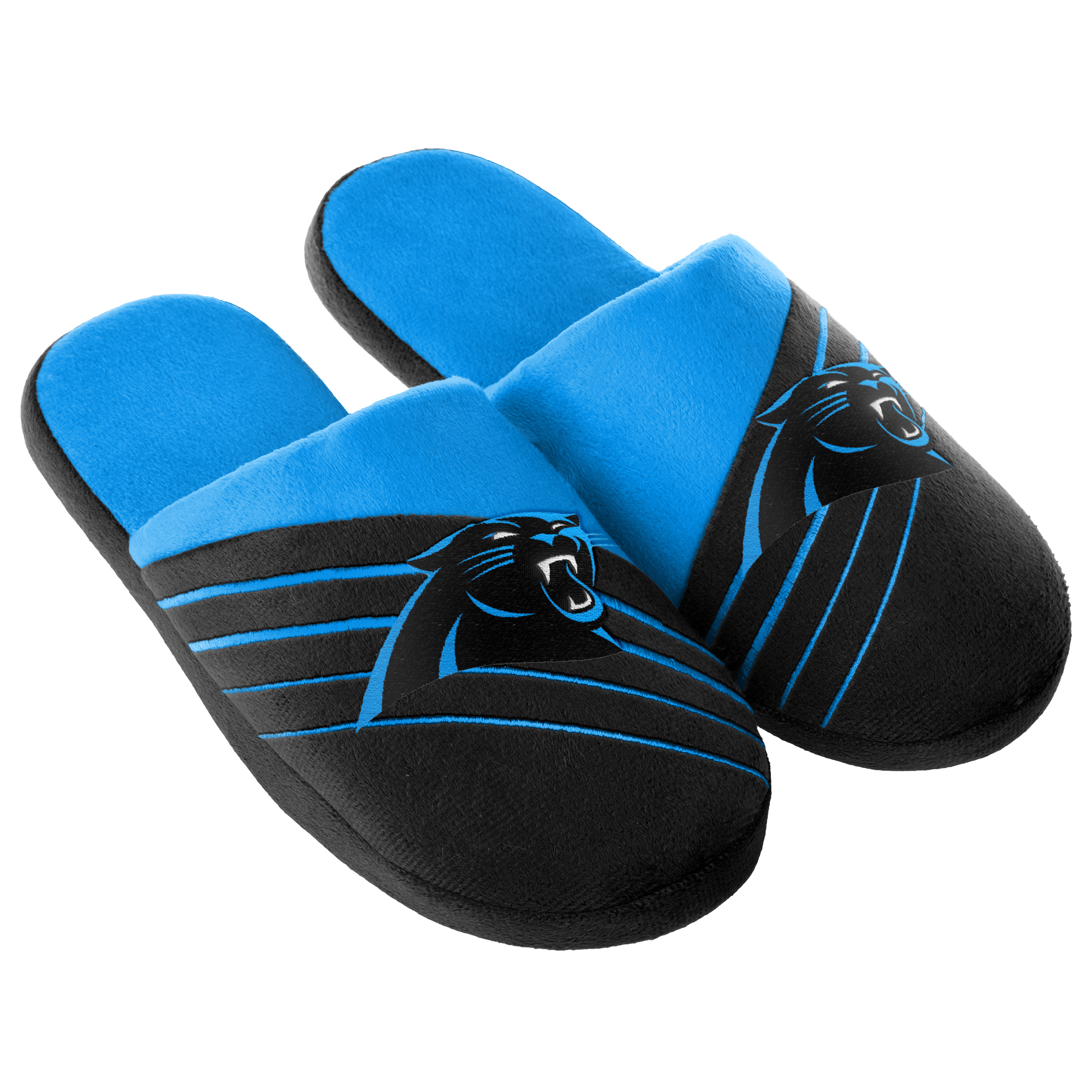 Carolina Panthers Men's Big Logo Slide Slippers by Forever Collectible