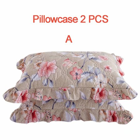 One-Piece Bed Cover Protective Cover Quilted Thickened Lace Bed Skirt Bed Cover / Pillowcase - Floral (Croscill Floral Bedskirt)