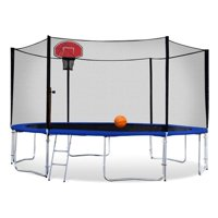 Exacme Backyard Trampoline with Basketball Hoop and Outer Enclosure, High Weight Limit, 6180-T12
