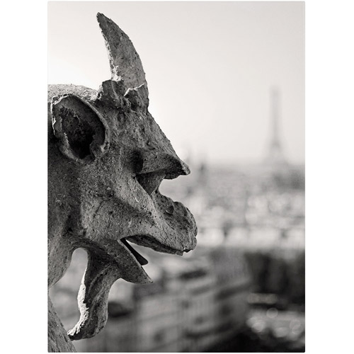 "Trademark Fine Art ""Gargoyle Paris"" Canvas Art by Pierre Leclerc"