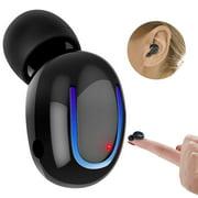 Bluetooth Headphone, Kipier Wireless Sport Earbud 8 Hours Talking Time HD Microphone Bluetooth Headset One Piece- Black