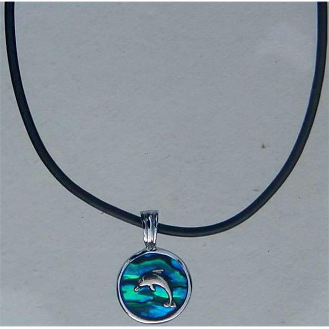 Solid Rock Jewelry 93548 Dolphin Blue Paua Shell Necklace - image 1 de 1