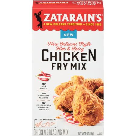 Zatarain's New Orleans Style Hot & Spicy Chicken Fry Mix, 9