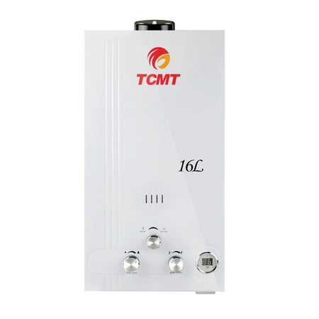 TCMT 4.2 GPM 16L Tankless Water Heater Natural Gas Instant Hot Boiler with Digital