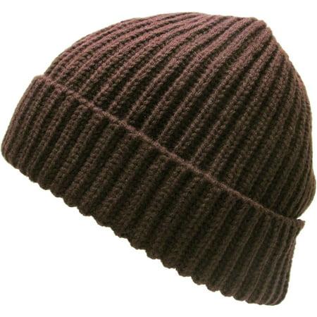 Ribbed Beanie Thick Cuffed Ski Hat Skully Winter Ski Cap - Walmart.com b620a444b30