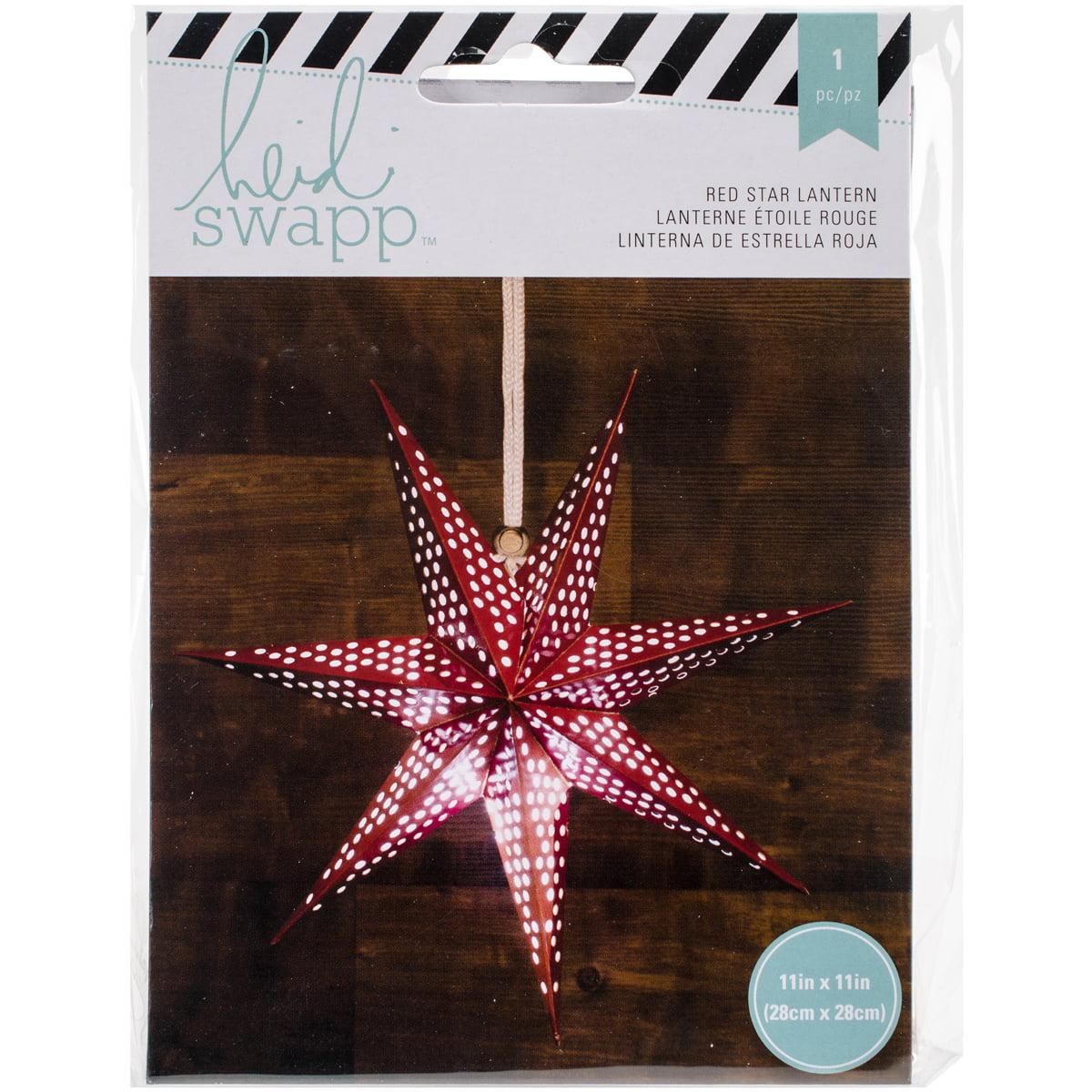 """Heidi Swapp 7-Point Star Paper Lantern, 11"""""""