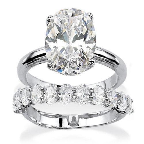 Palm Beach Jewelry Marquise Cut Cubic Zirconia Bridal Ring Set