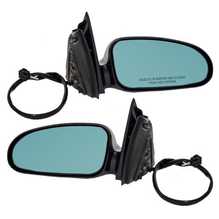 Driver and Passenger Power Side View Mirrors Heated Memory Blue Tinted Glass Replacement for Pontiac Bonneville 25736307 25736306