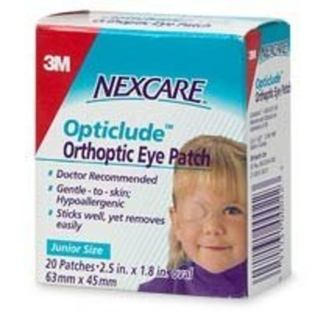 Nexcare Opticlude Orthoptic Eye Patches, Gentle to Skin, Junior Size, 20 (Nexcare Hypoallergenic Eye Patch)