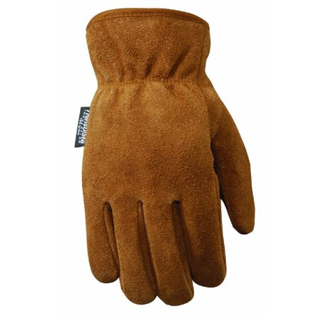 Wells Lamont Suede Cowhide Work Gloves for Men L