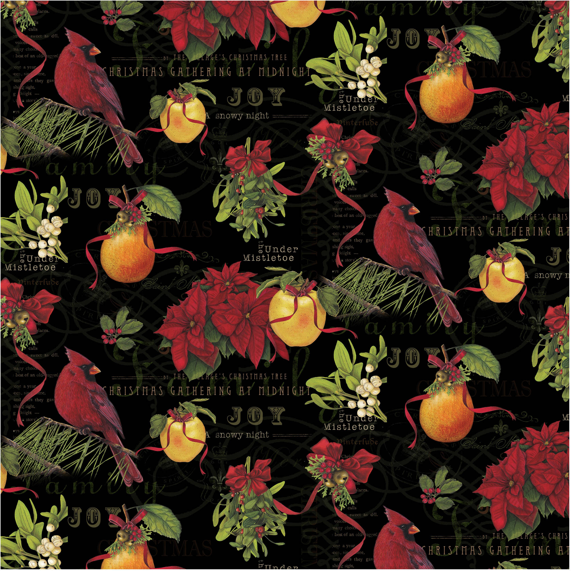 Holiday Christmas Delight Cotton By The Yard, 44""