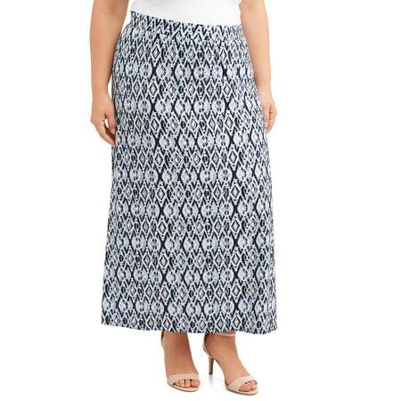 dbbda24eea4e7 Terra   Sky - Women s Plus Size Super Soft Knit Maxi Skirt - Walmart.com
