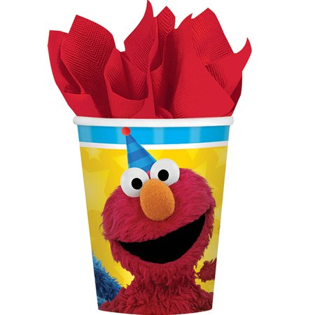 Sesame Street Buckets (Sesame Street Elmo Party Drinking Cups, 9oz,)