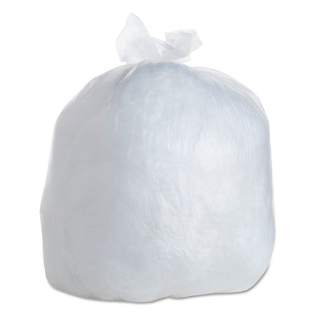 FlexSol High-Density Trash Bags, 30 x 37, 30-Gallon, 10 Micron, Clear, 25/Roll