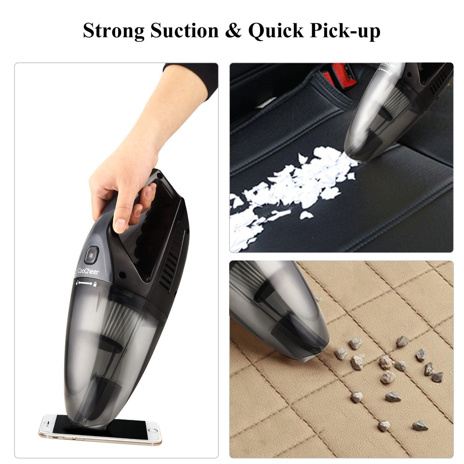 Portable Cordless Handheld Vacuum Cleaner Dustbuster for Home Office Auto Car DADEAYS