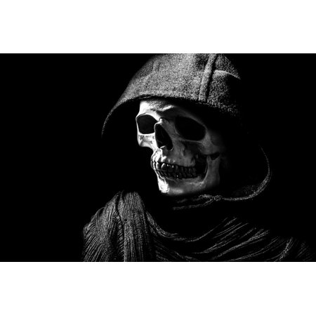 LAMINATED POSTER People Mask Scary Hood Dummy Skull Halloween Poster Print 24 x 36](Halloween Window Posters Sale)