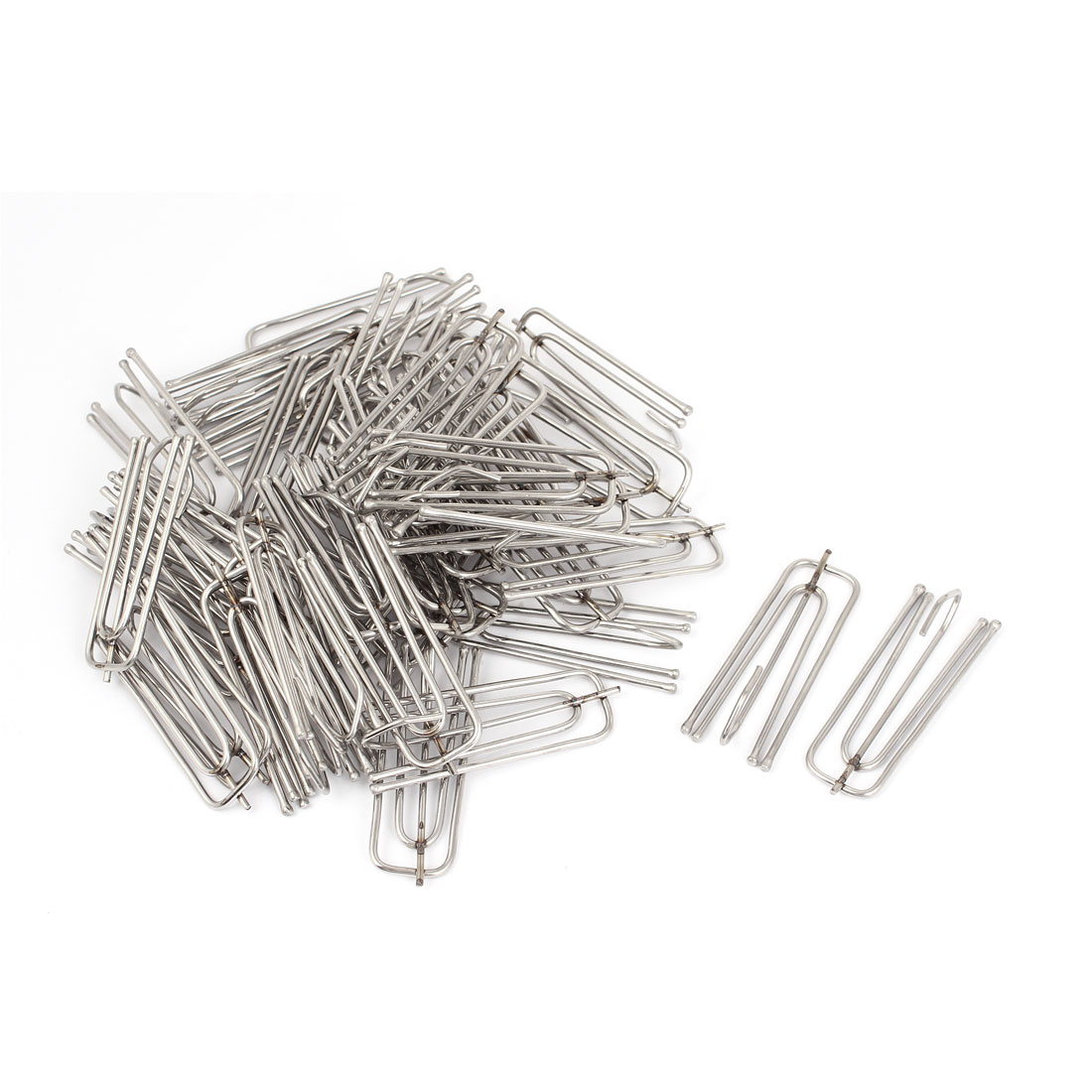 Stainless Steel Deep Pinch Prong Window Curtain Pleat Hooks Pleated 45pcs