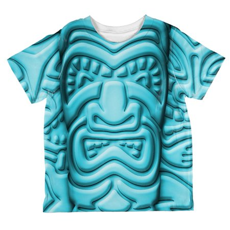 Tiki God Blue Face Luau All Over Toddler T Shirt](Tiki Man Face)
