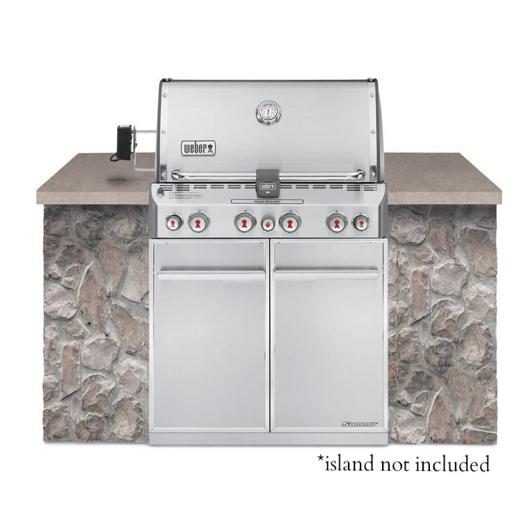 Summit S-460 Gas Grill Stainless Steel NG Built-In by