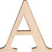 """""""Wood Letters & Numbers 1.5"""""""" 2/Pkg-A"""""""