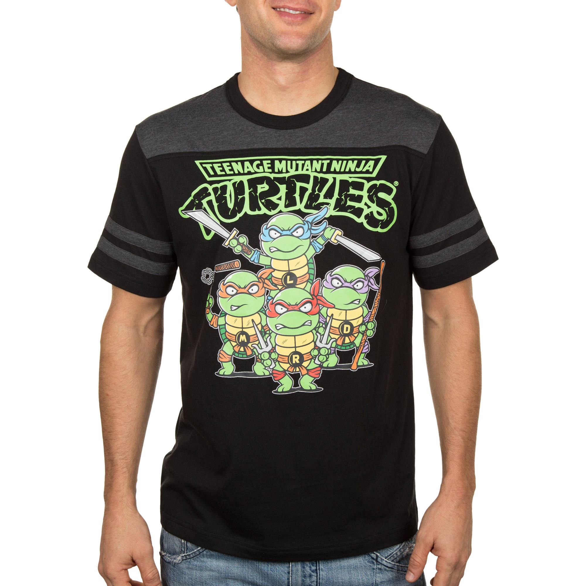 Teenage Mutant Ninja Turtle TMNT Group Kid Ninjas Men's Graphic Tee