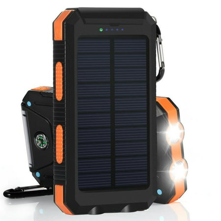 Waterproof 500000mAh Dual USB Portable Solar Charger Solar Power Bank For Phone ()