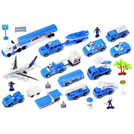 - Deluxe Aircraft Airport 26 Piece Children's Toy Mini Vehicle Playset w/ Variety of Vehicles, Accessories