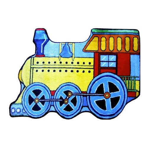 Fun Rugs Fun Shape High Pile Train Area Rug
