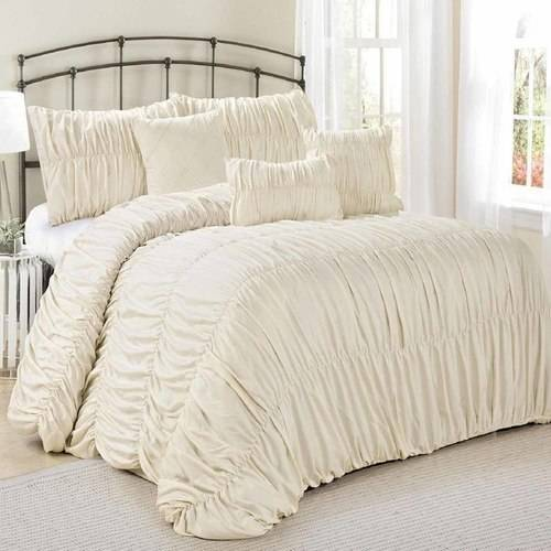 Fashion Street Rosales 7-Piece Pleated Bedding Comforter Set