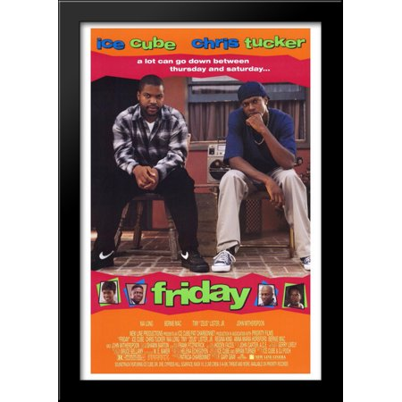 Friday 28x40 Large Black Wood Framed Print Movie Poster Art