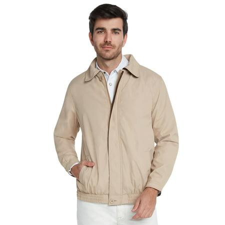 Men's Water Resistant Lightweight Paneled Harrington Jacket by 9 (Nylon Harrington Jacket)