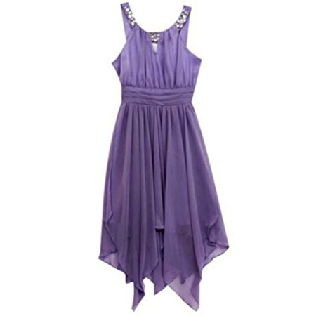 Tween Diva Lilac Shirred Party Dress 14