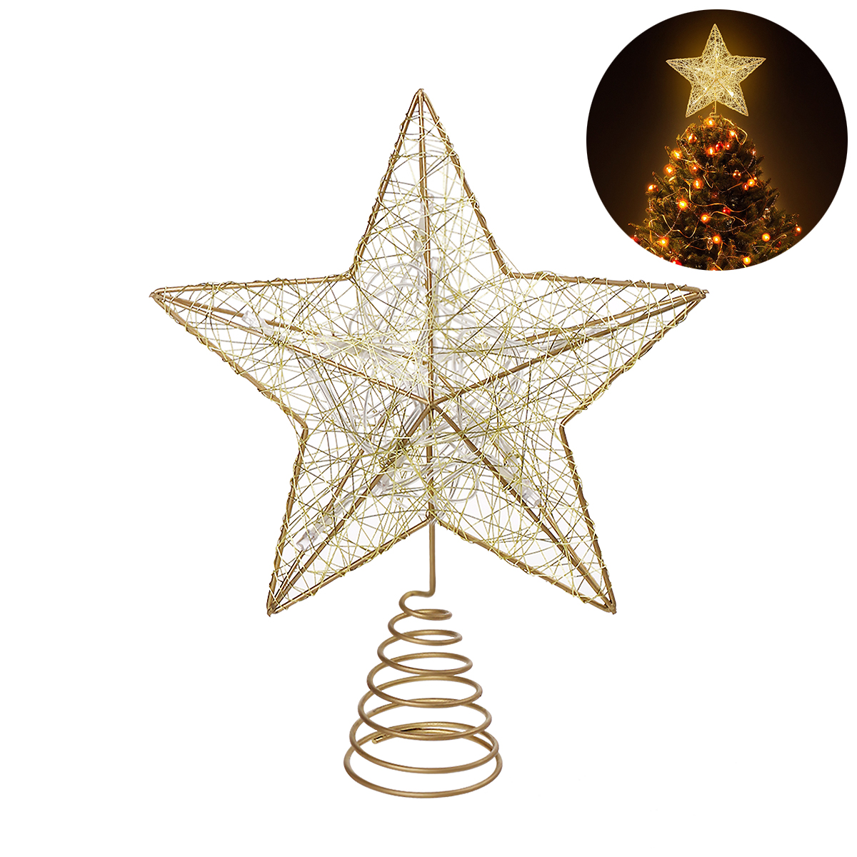 Small Battery Operated Christmas Tree: NICEXMAS Christmas Tree LED Star Tree Topper Battery