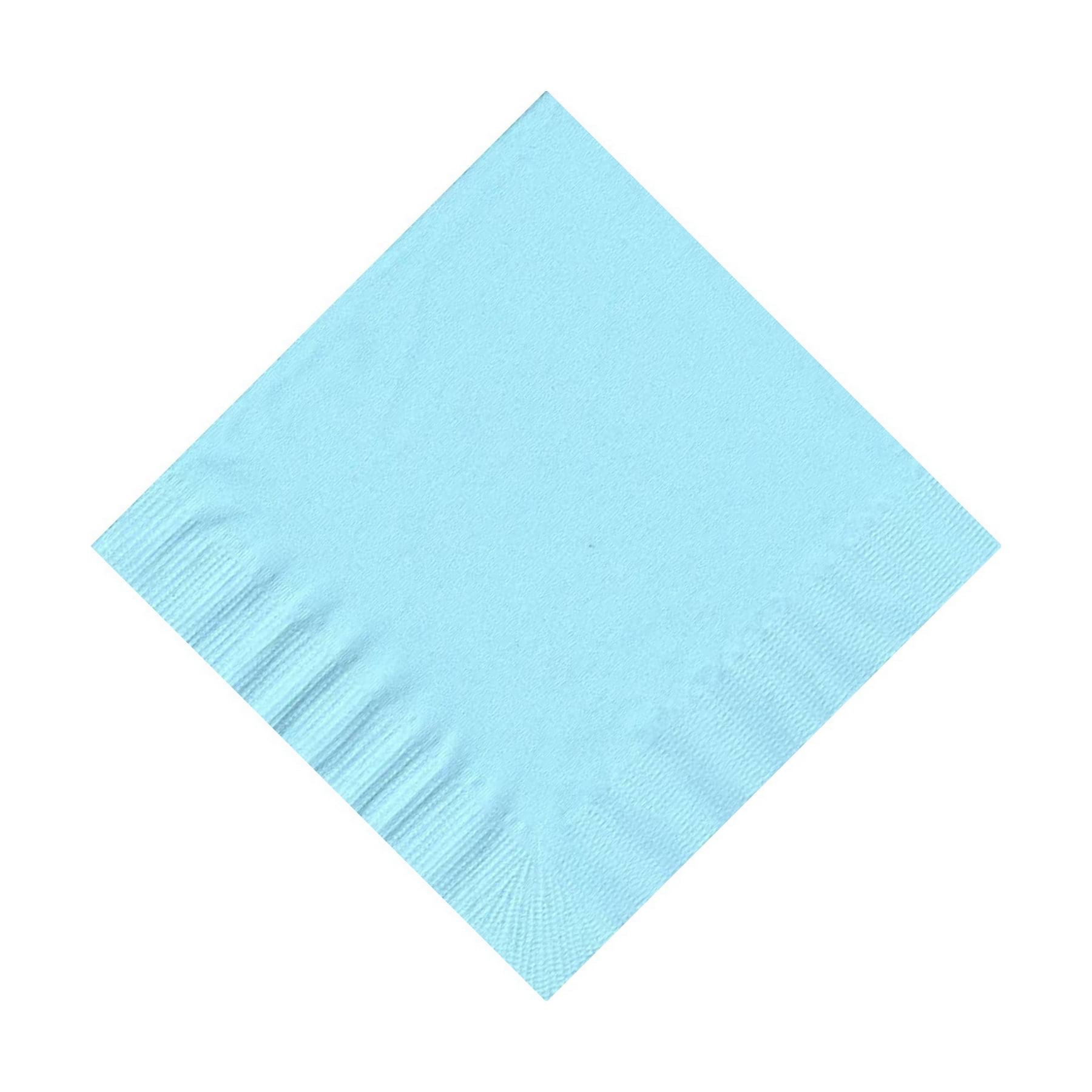 50 Plain Solid Colors Beverage Cocktail Napkins Paper Light Blue by CREATIVE CONVERTING
