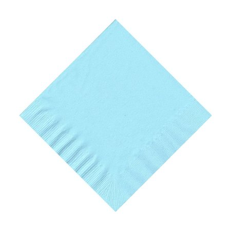 50 Plain Solid Colors Beverage Cocktail Napkins Paper - Light Blue