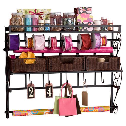 Wildon Home 35.5'' x 27.5'' x 8.5'' Lynbar Wall Mount Craft Large Storage Rack by Southern Enterprises