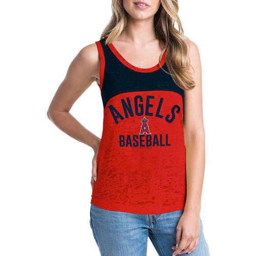 MLB Los Angeles Angels Women's Short Sleeve Team Color Graphic Tee