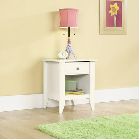 Shoal Creek Nightstand with Drawer & Storage Shelf - Soft White - Sauder
