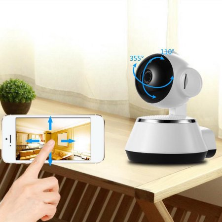 (Clearance! Wireless Wi-Fi Baby Monitor Alarm Home Security IP Camera HD 720P Night Vision White Baby Monitors On Sale)