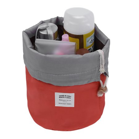 Pretty See Waterproof Makeup Barrel Bag Portable Cosmetic Barrel Bags Multi-functional Travel Bucket Toiletry Organizer with Drawstring and 3 Mesh Pockets, Suitable for Both Home and Travel, - Pretty Angel Makeup For Halloween