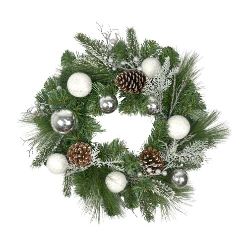 The Holiday Aisle Decorated 20'' Plastic Wreath