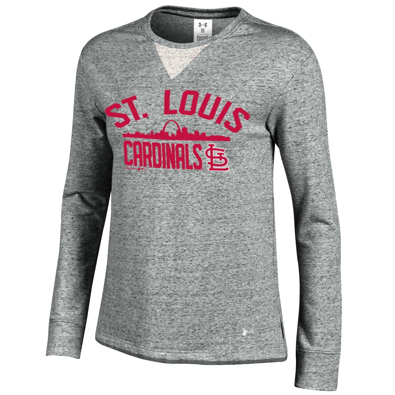 St. Louis Cardinals Under Armour Women's Performance Long Sleeve T-Shirt - Gray