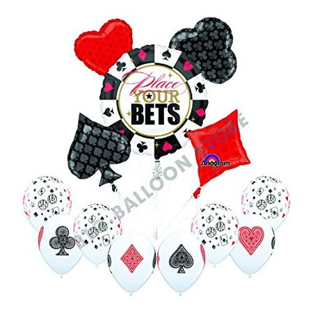 Casino PLACE YOUR BETS 13pc Party Balloon decorations